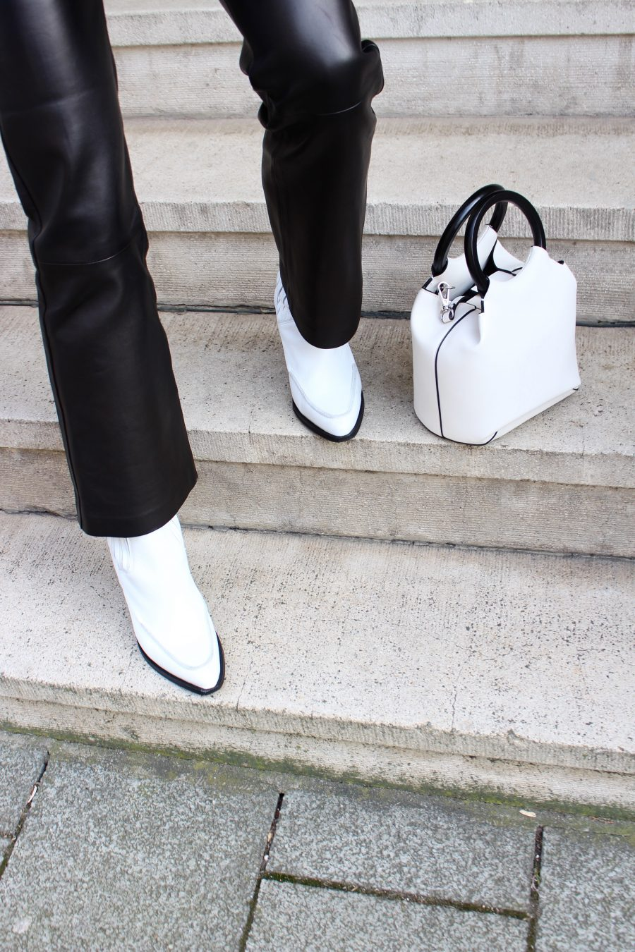 Leather Boots and Pants Mango ss2018