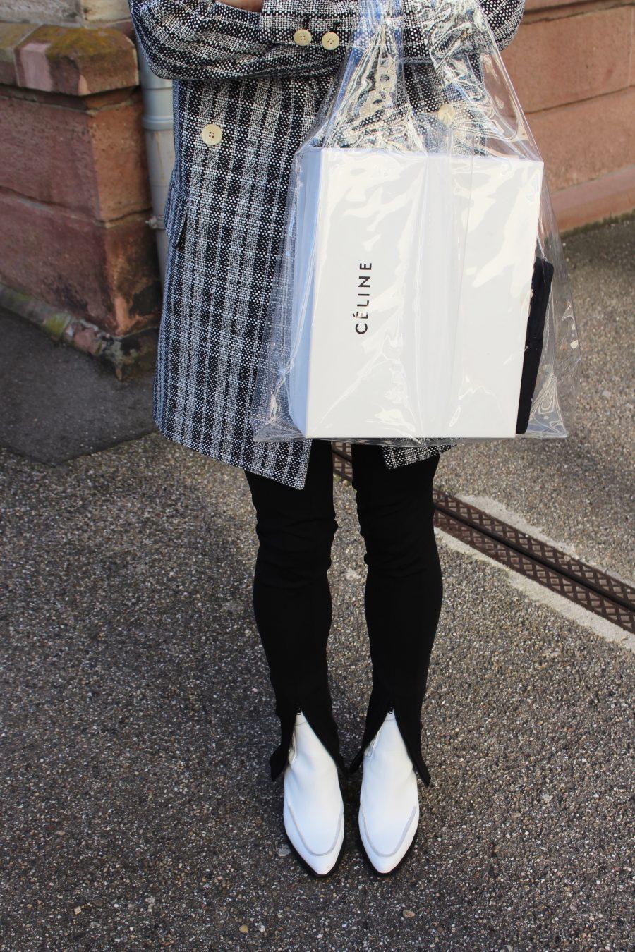plastic bag céline ss18