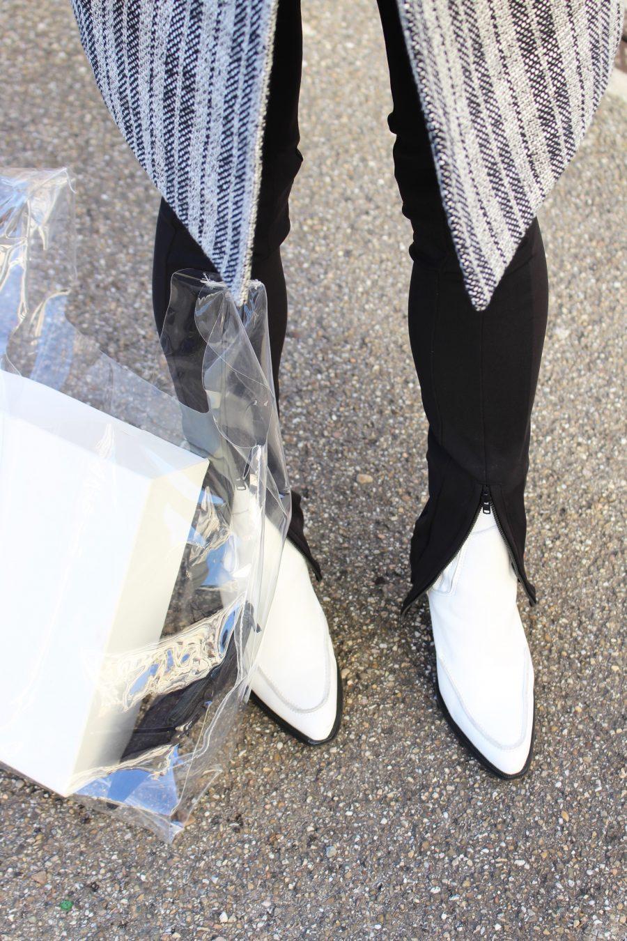 white boots mango premium ss18