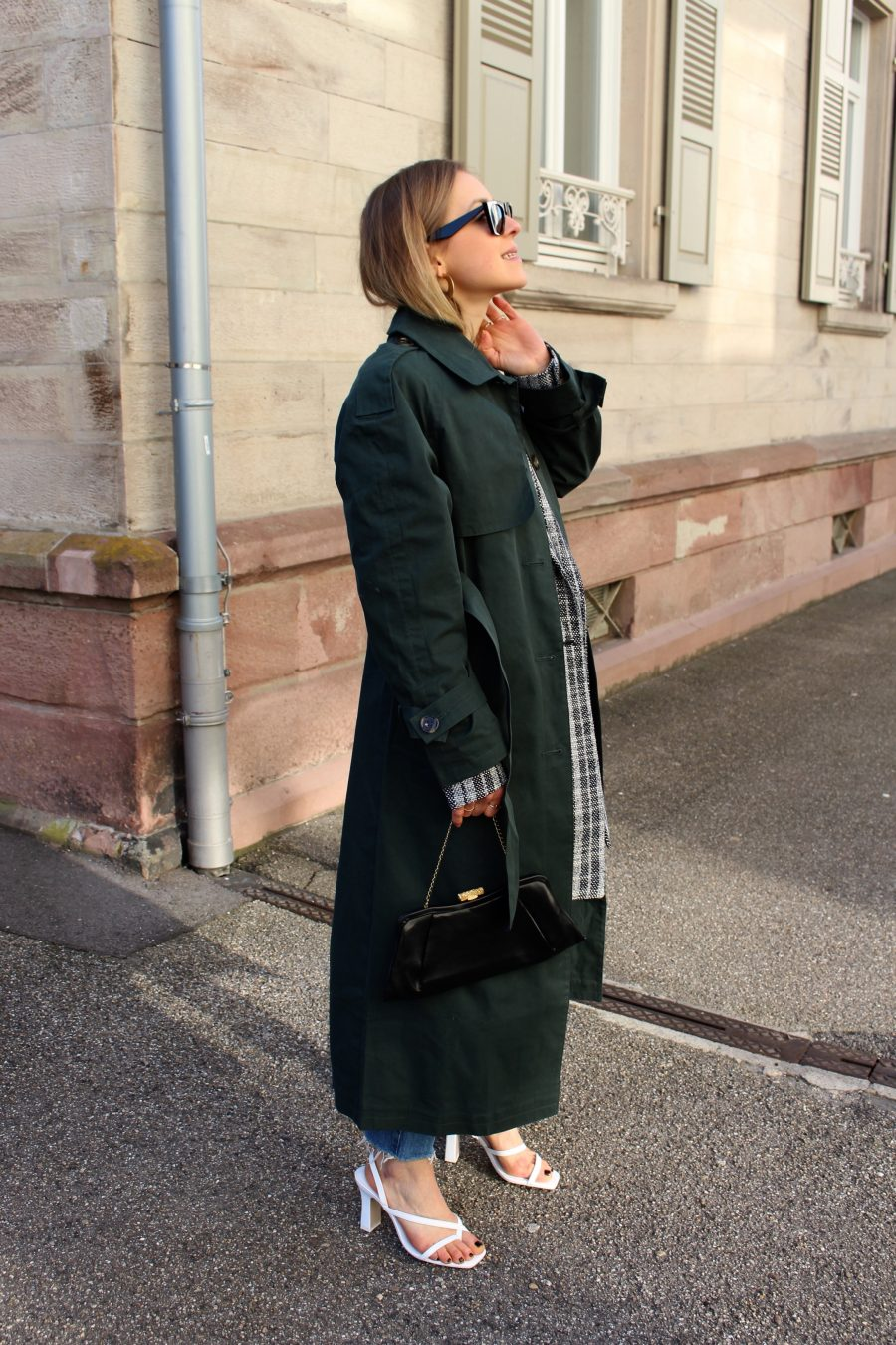 Green Trenchcoat asos