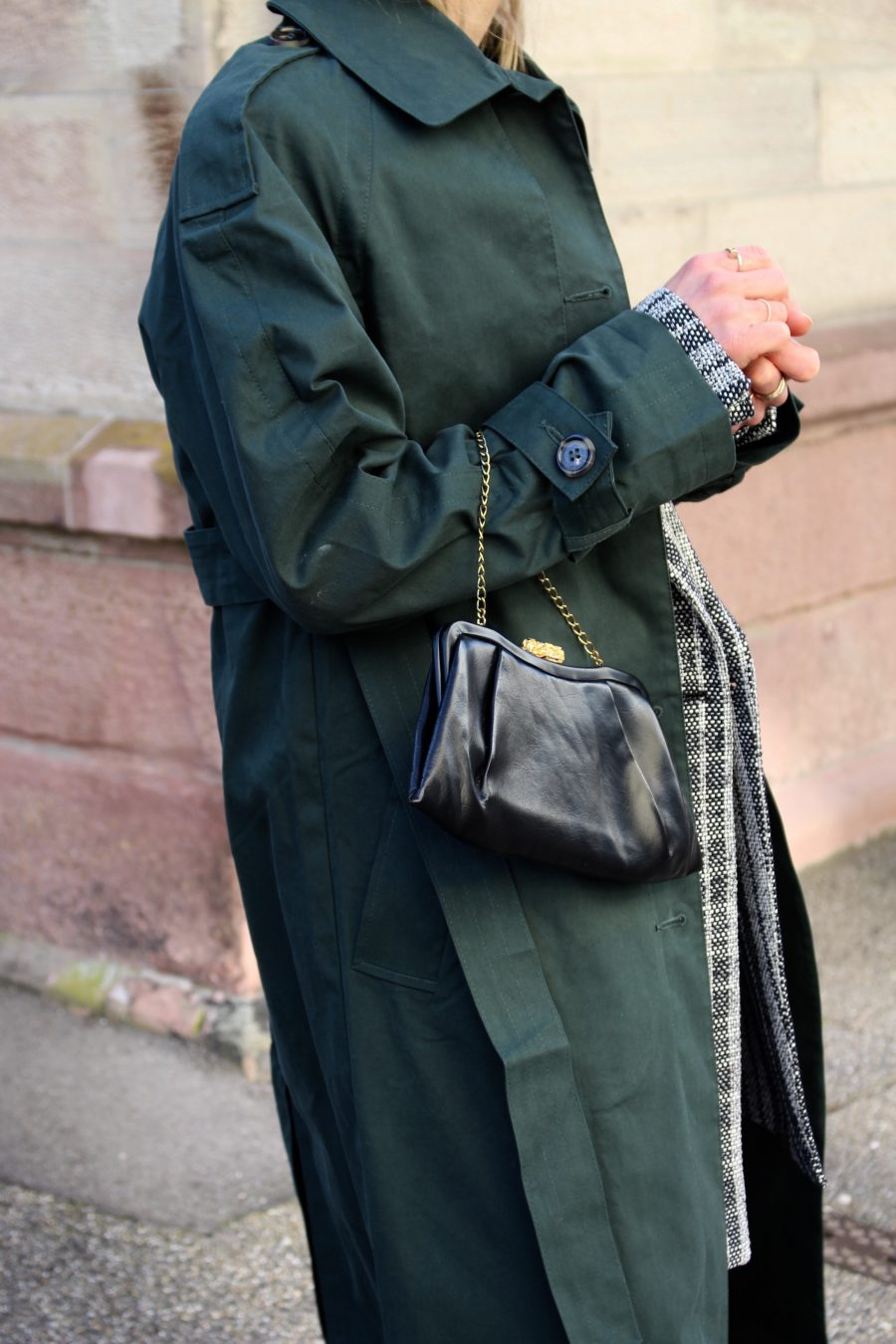 Trenchcoat green asos