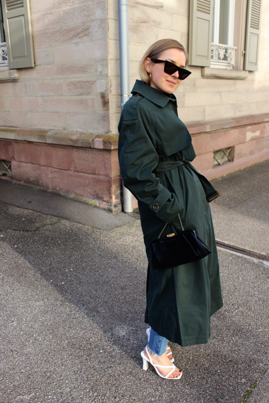 Trenchcoat asos green