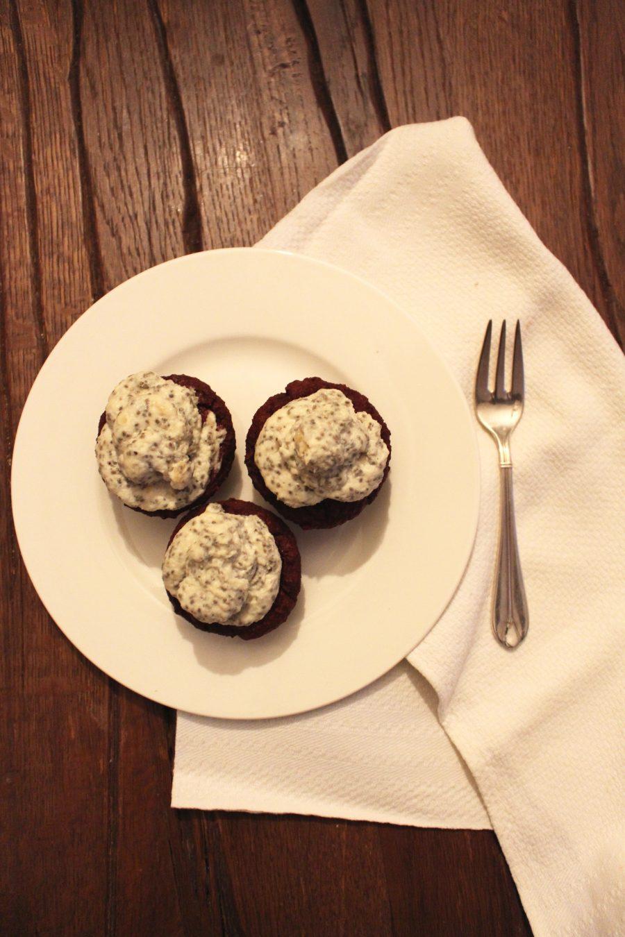 Rote Bete-Schoko-Cupcakes
