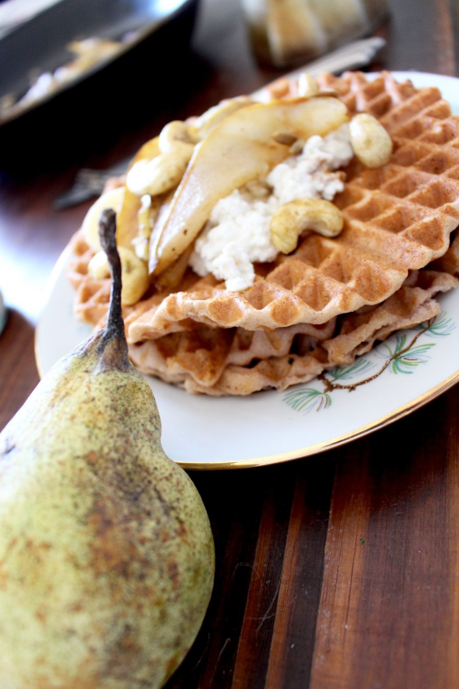 Glutenfreie Bananen-Waffeln