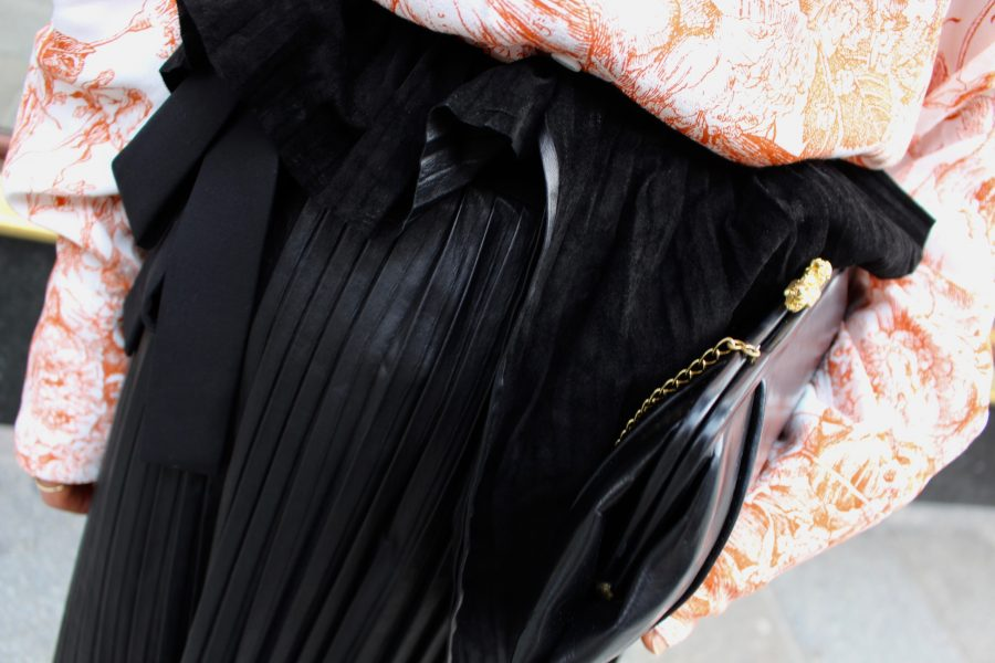 Nobi Talai Leather Skirt ss18