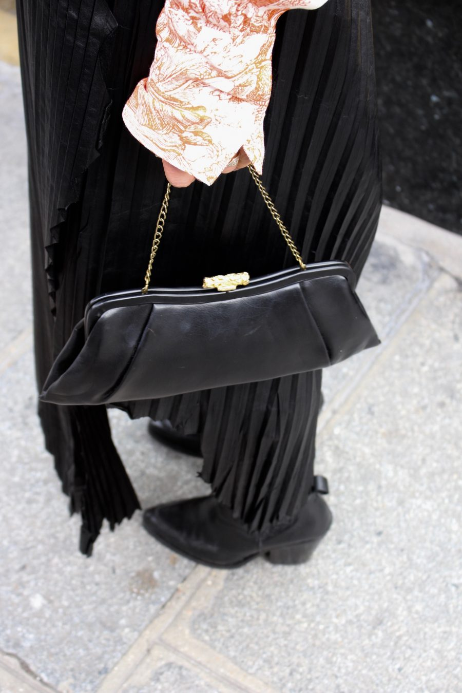 vintage leather bag black