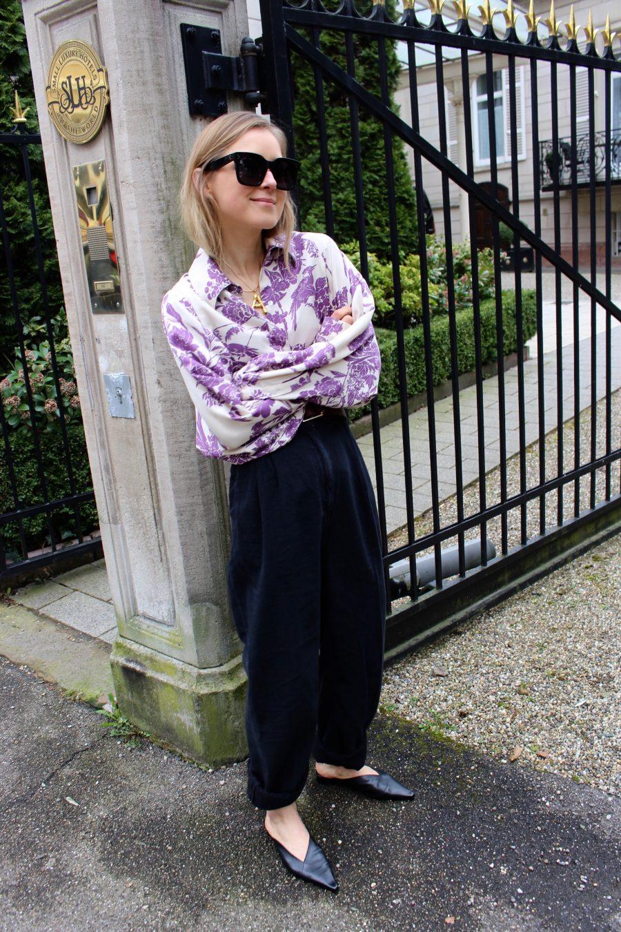 Floral prit bluse H&M Trend