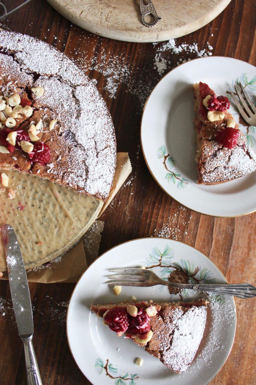 Raspberries Polenta Cake