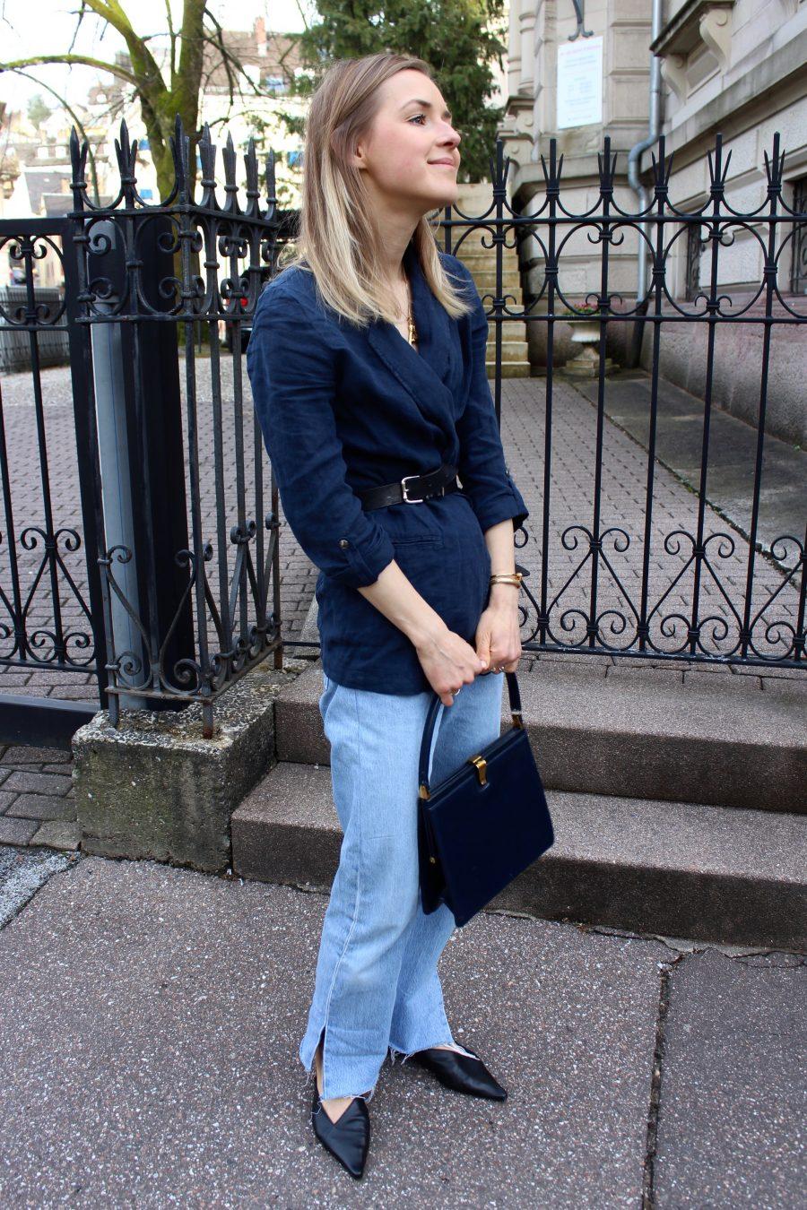 clap bag céline blue