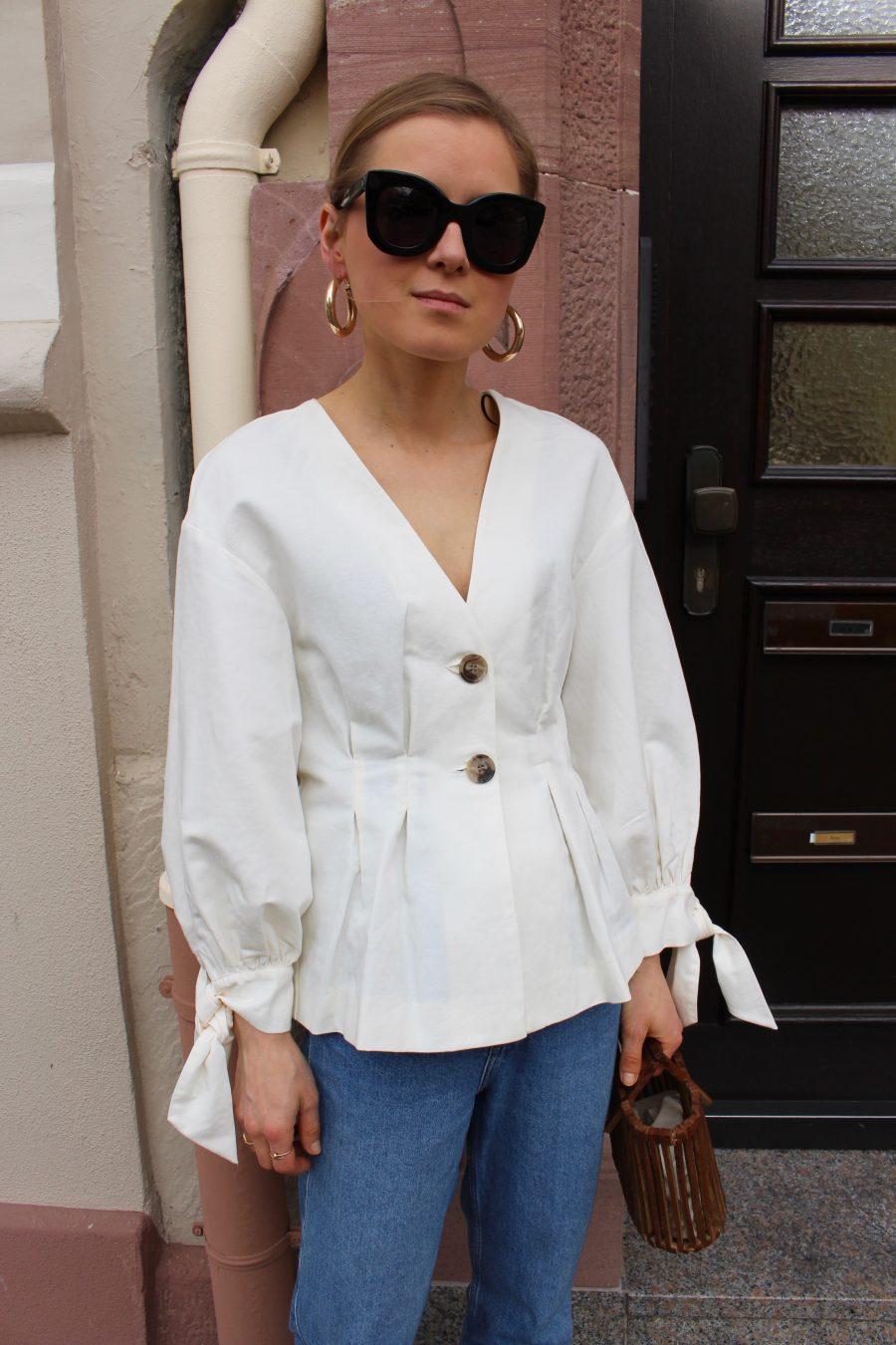 Zara leinen bluse
