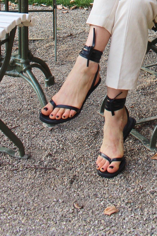 mango shoes black new season 2018