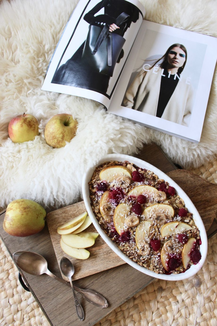 Ofen Porridge mit Rhabarber & Apfel |18.04.2018