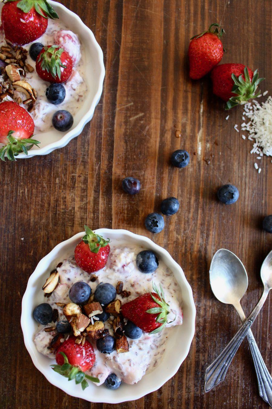 fresh healthy Strawberry Yogurt