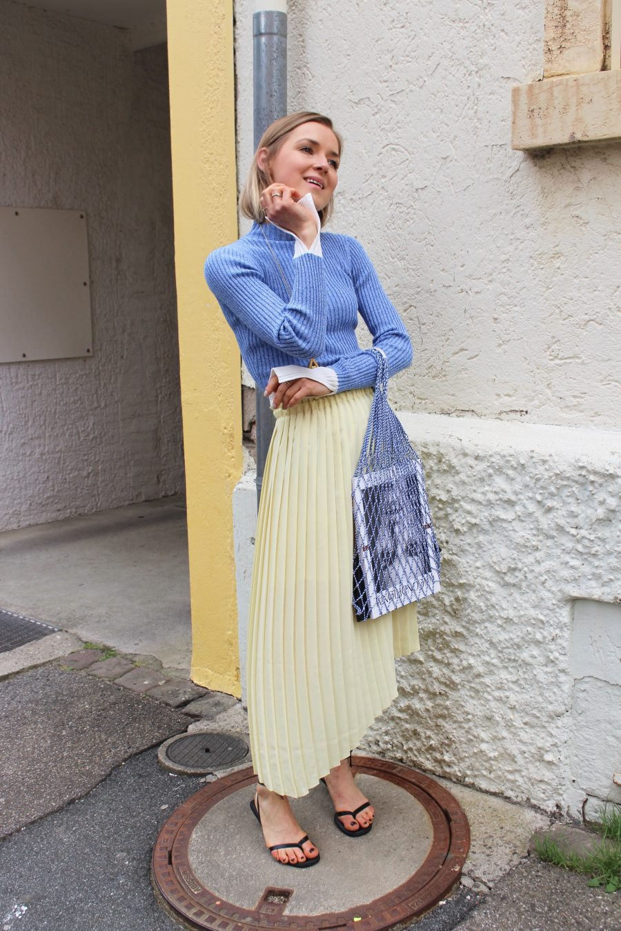 Mango skirt yellow summer 2018