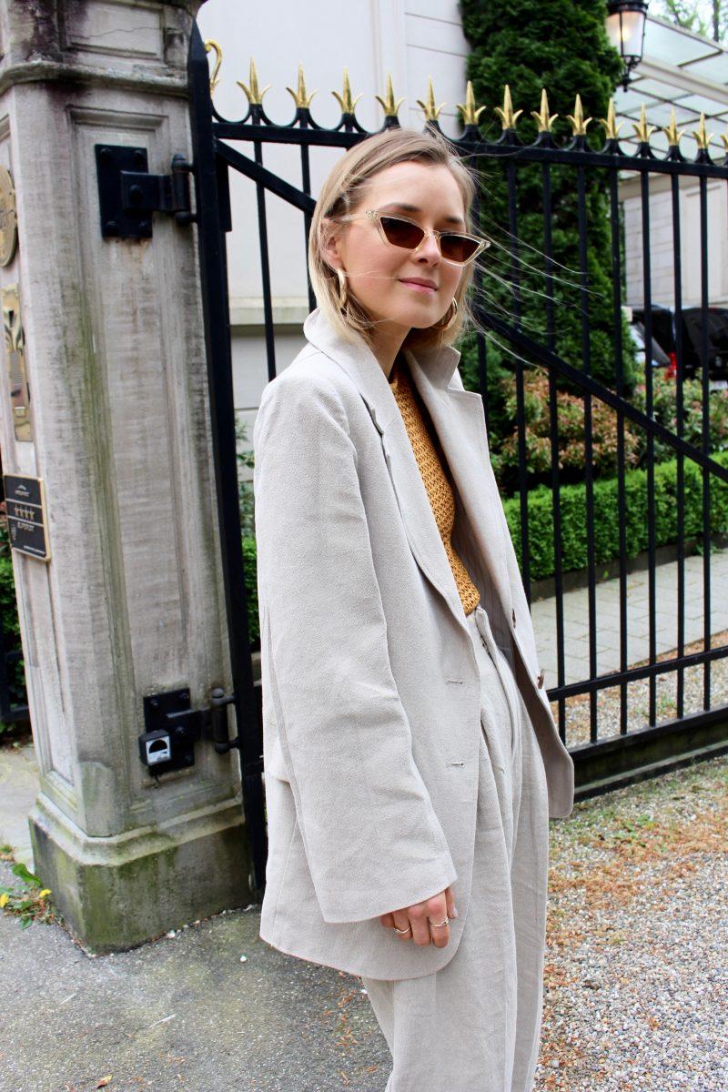 H&M trend leinen anzug