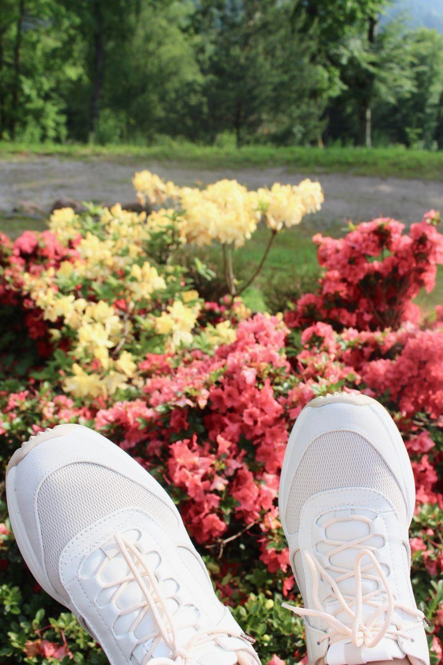 white sneaker zara