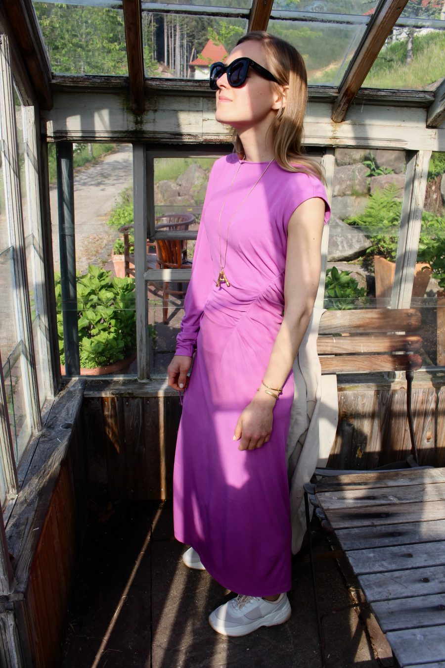 pink zara studio dress