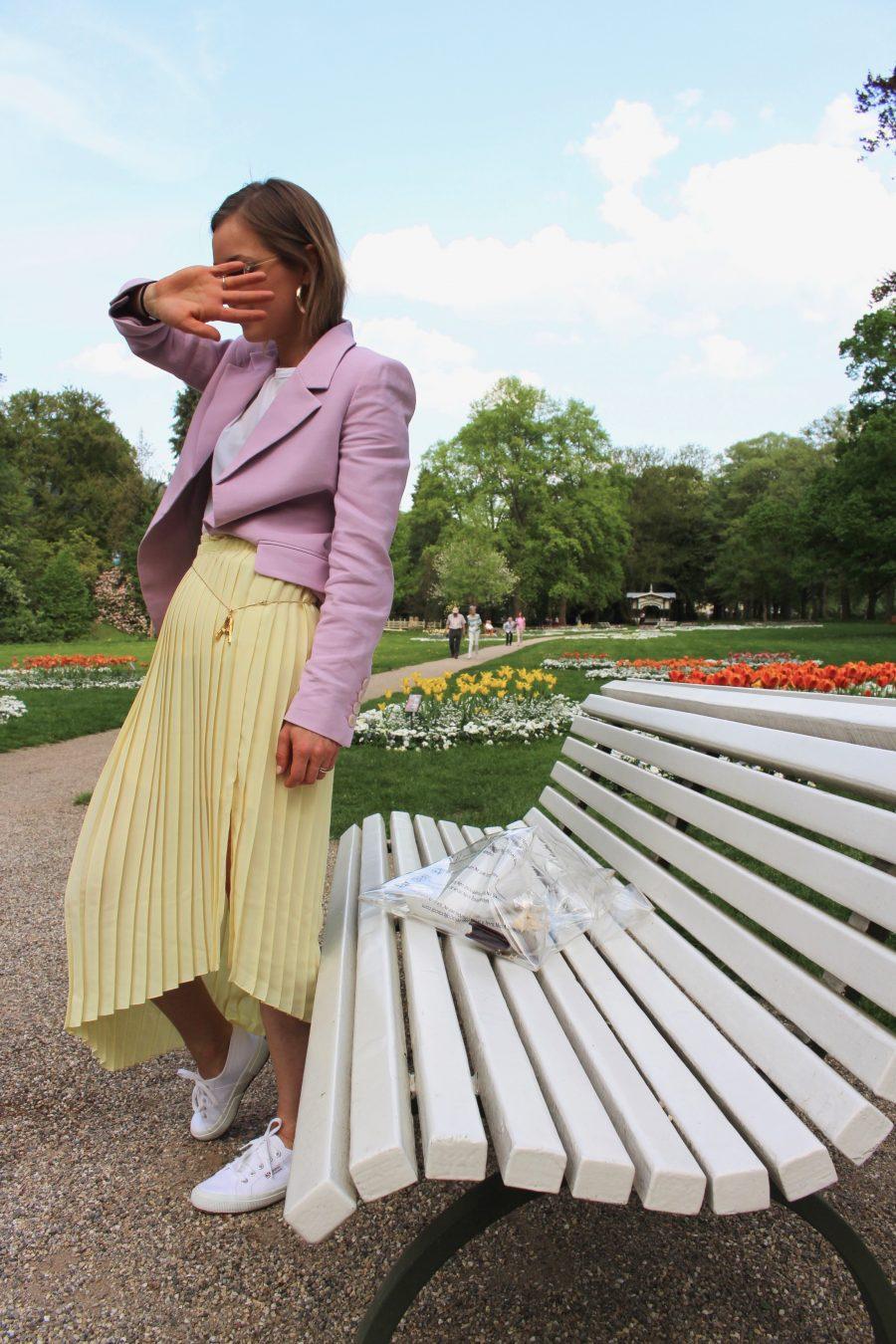 Yellow skirt céline ss18