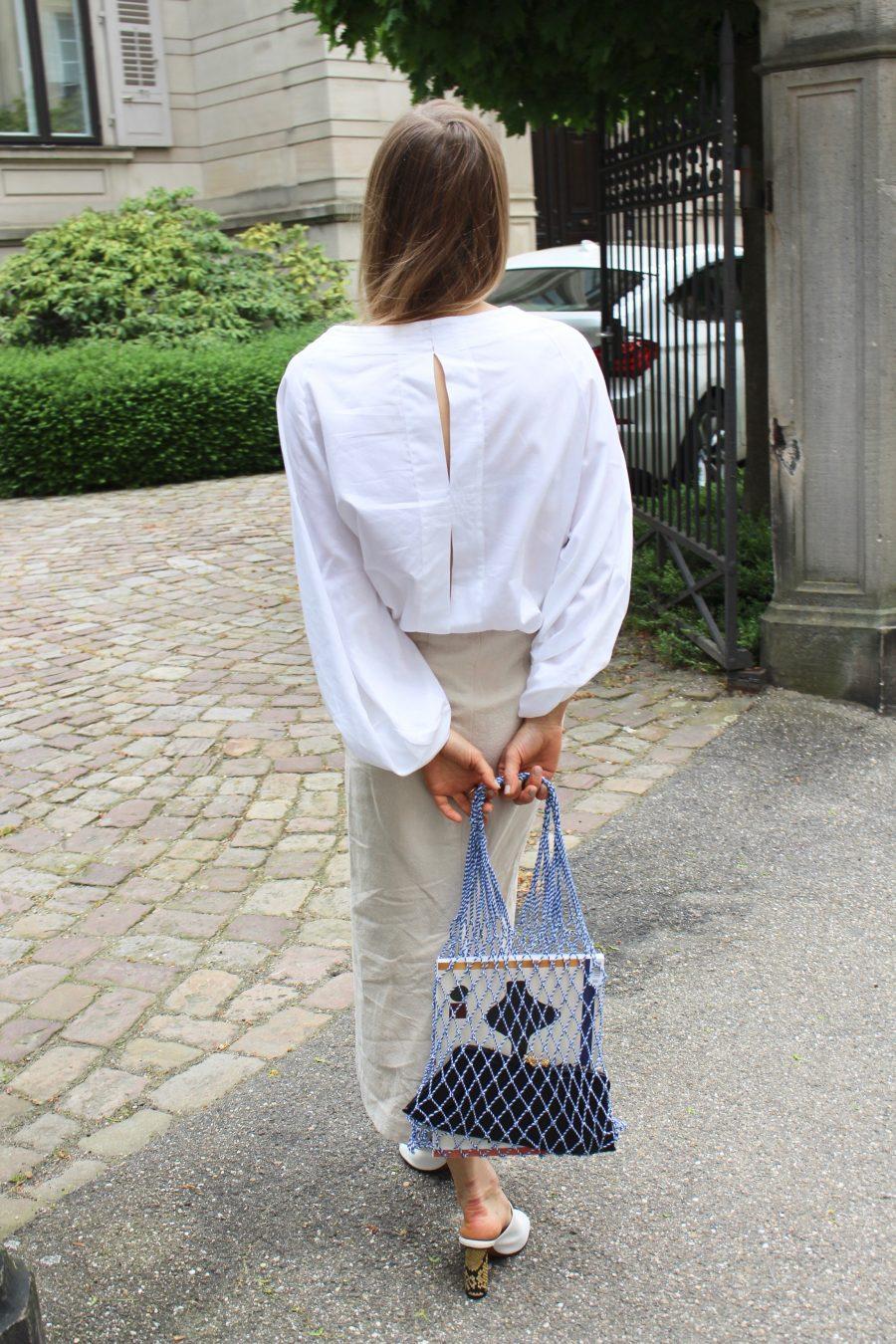 H&M Linen Skirt beige