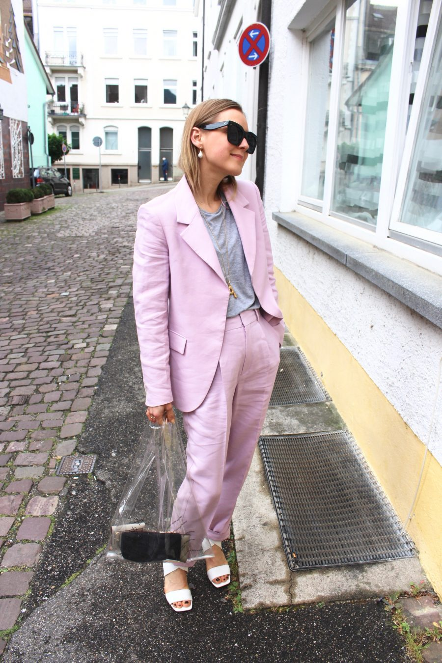 mango suit light rose