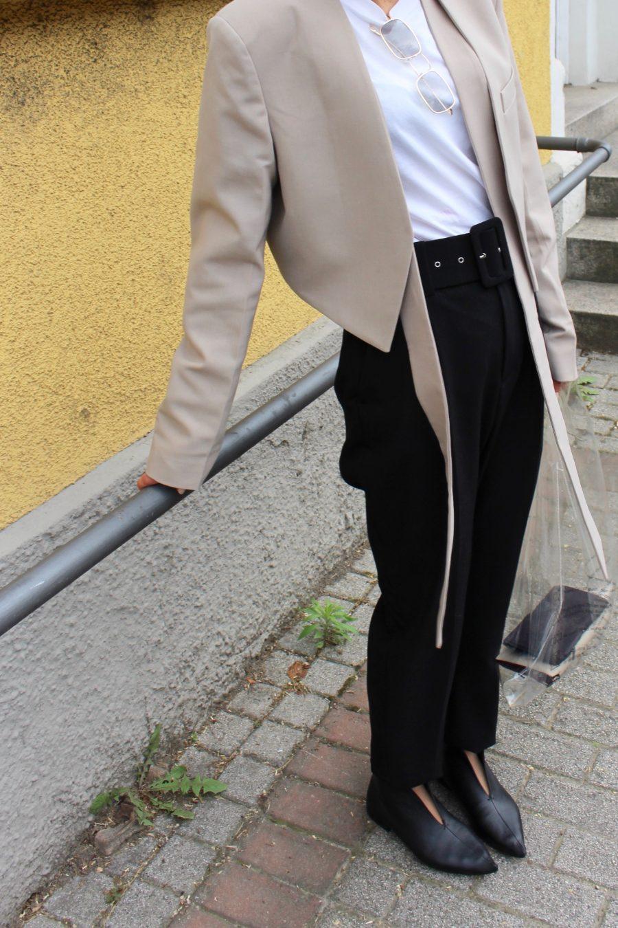 black high waisted pants zara