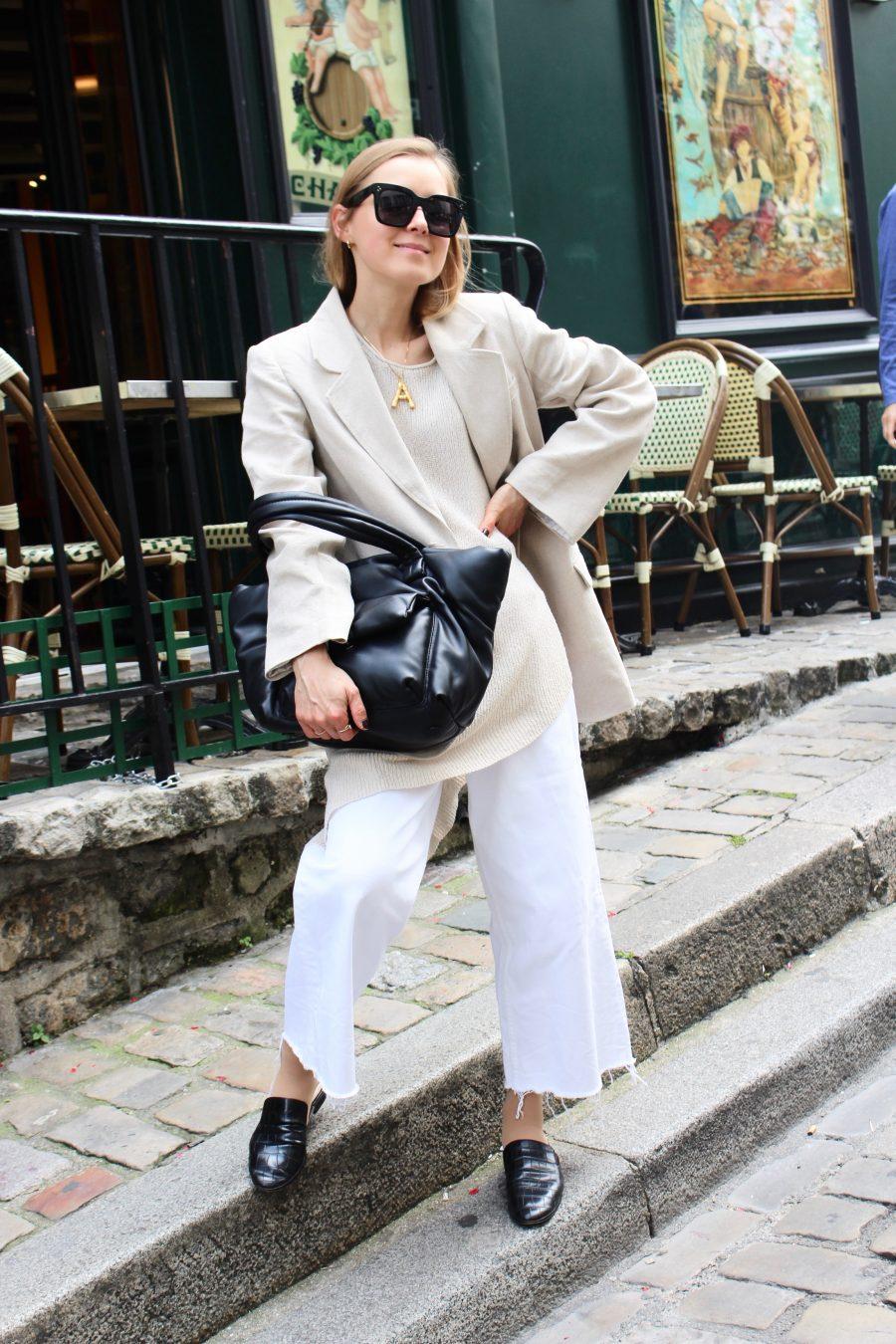 linen blazer H&M Trend beige