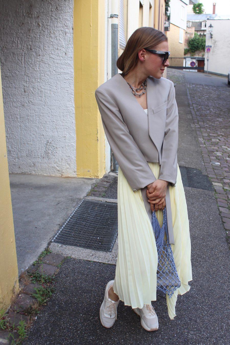 H&M trend skirt yellow summer 2018