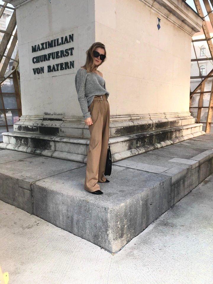 wide trousers beige wool trend 2018