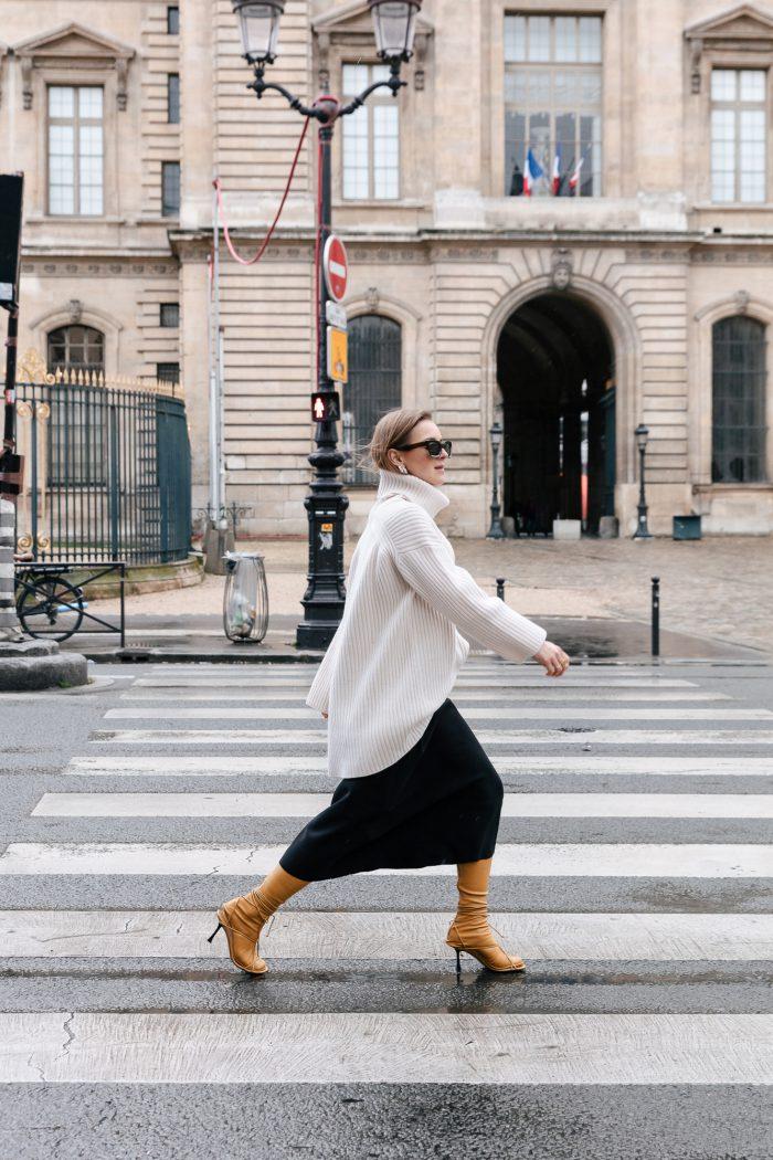 Midi Skirt Black H&M Trend