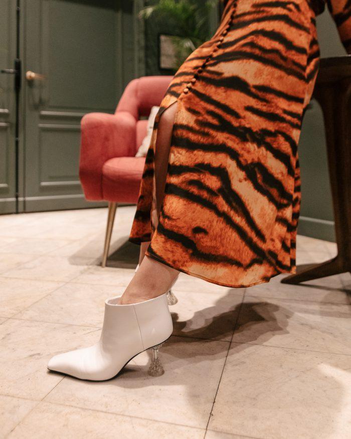 Céline Shoes white boots