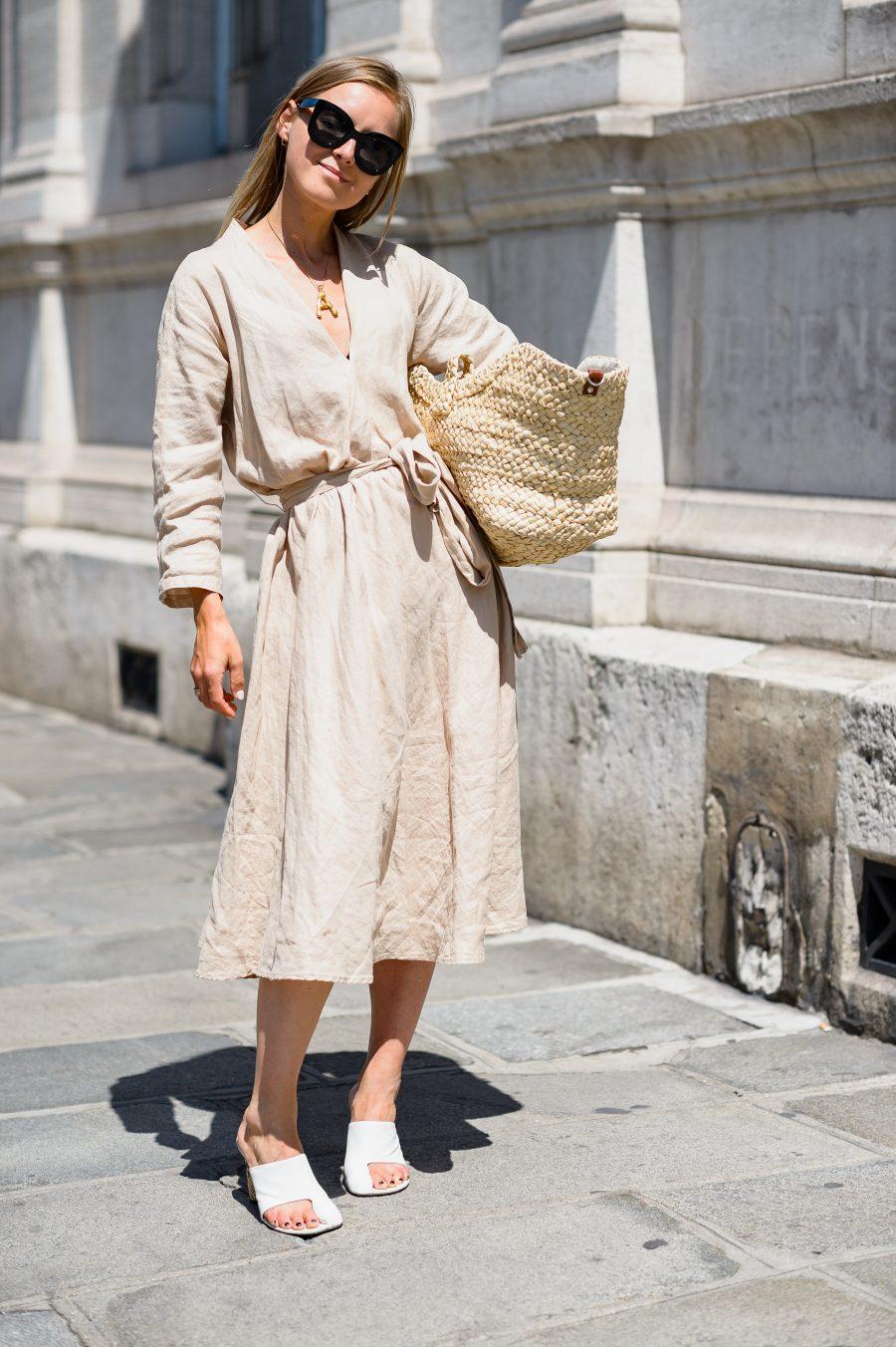 Zara linen dress new collection 2018