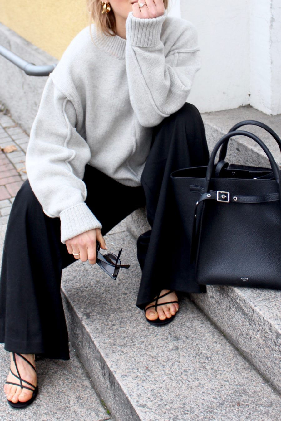 Céline Bag SMALL BIG BAG WITH LONG STRAP IN SUPPLE GRAINED CALFSKIN