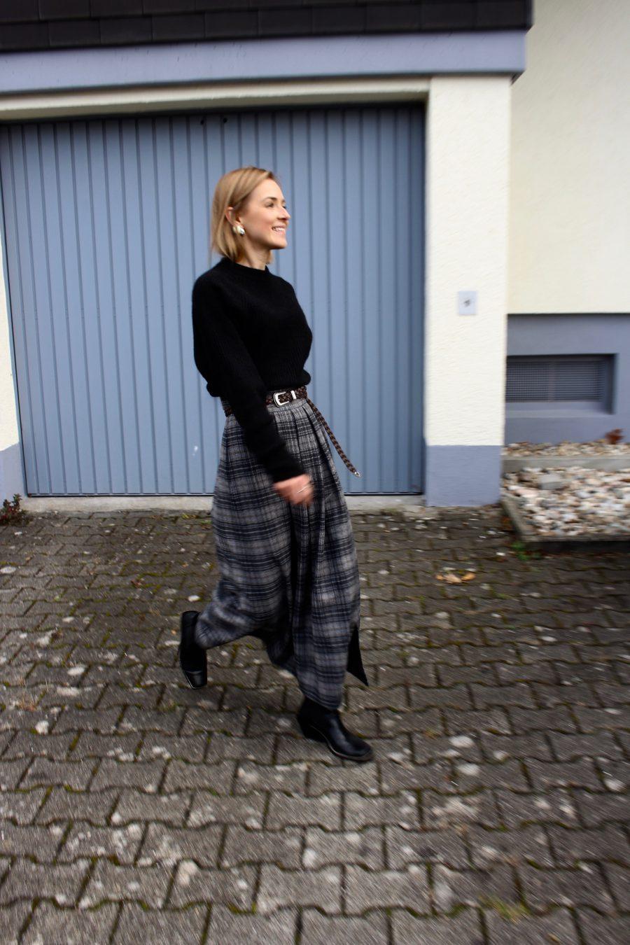 Massimo Dutti maxi skirt winter 2018