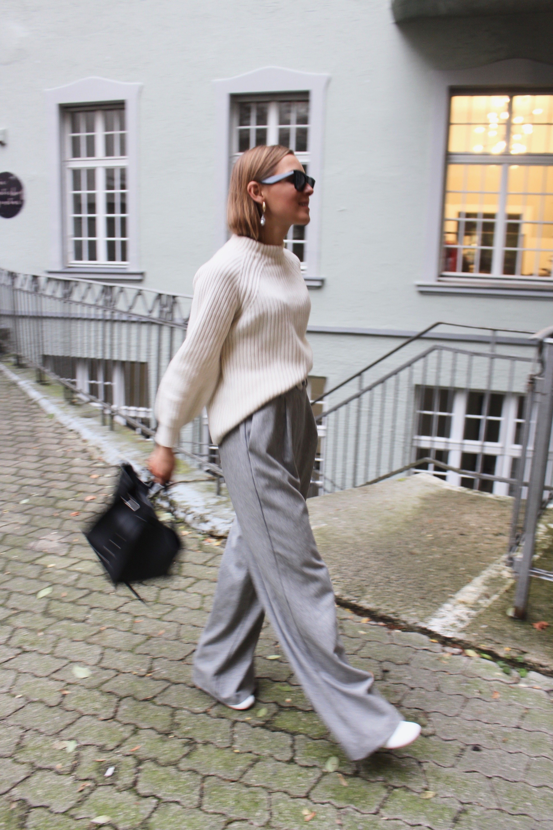 Wide Grey Pants new Collection 2018 trend