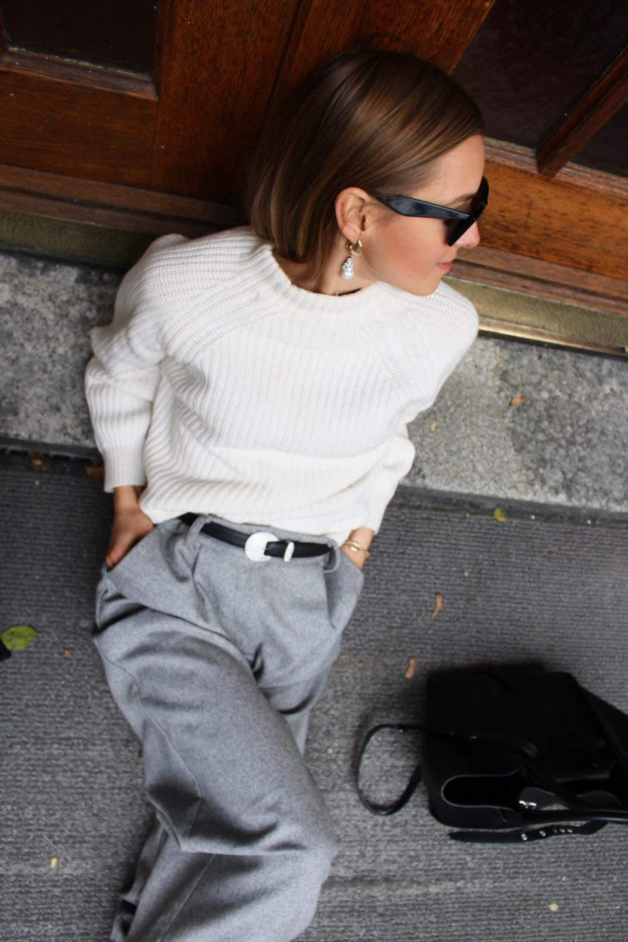 Massimo Dutti Sweater beige new collection