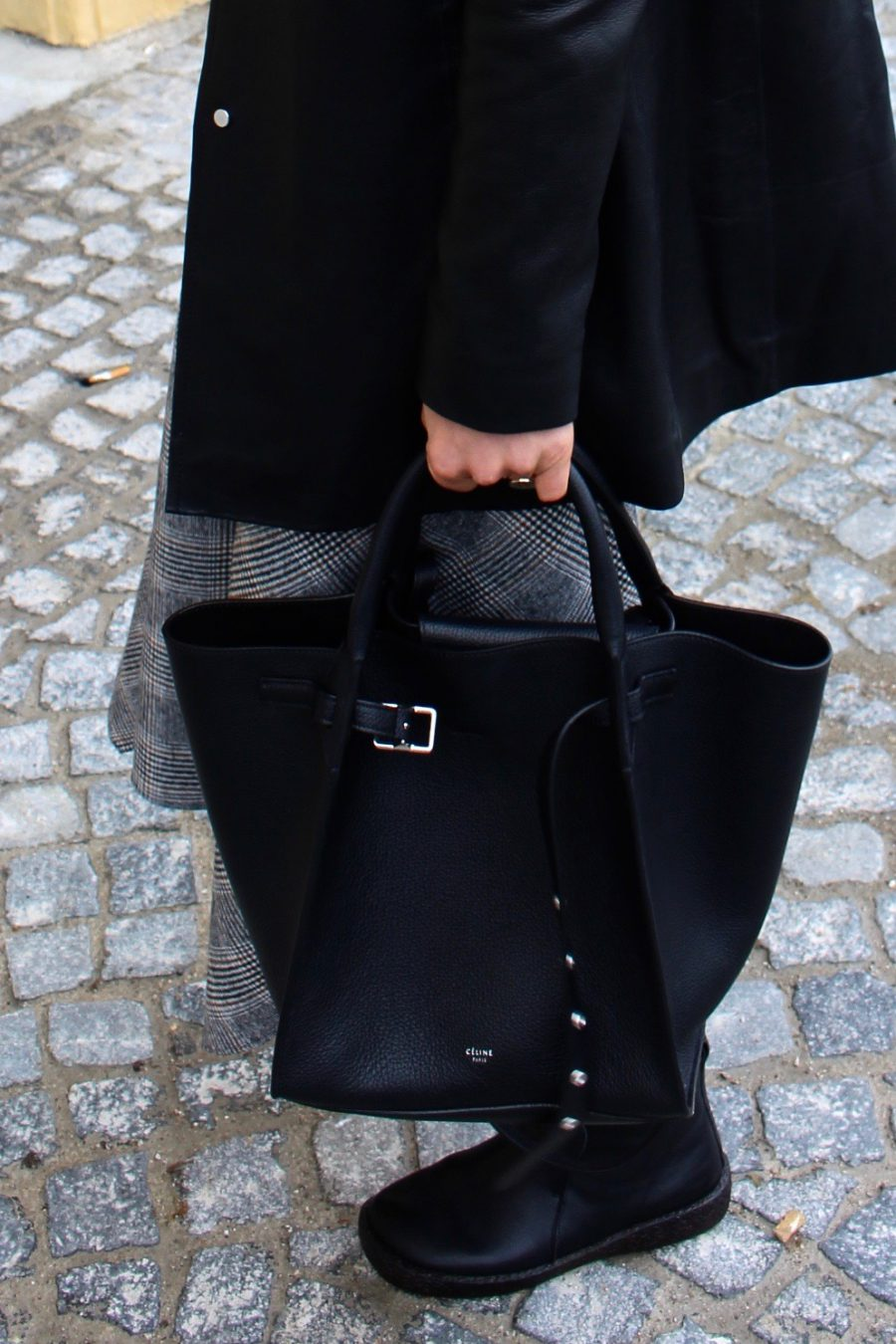 Céline black leather bag winter 2018