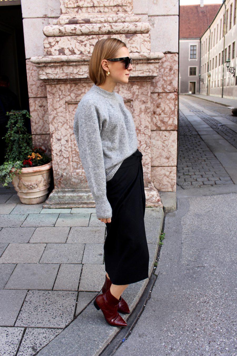 Mango committed Skirt black