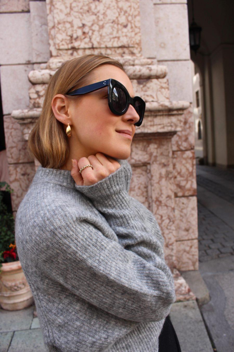 H&M Sweater Trend grey