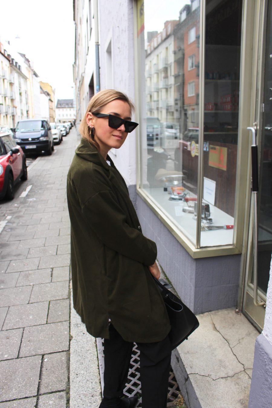Green Khaki jacket oversized