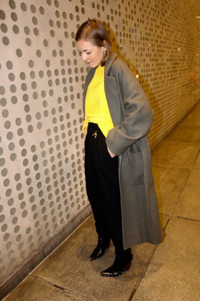khaki coat zara new winter collection 2018
