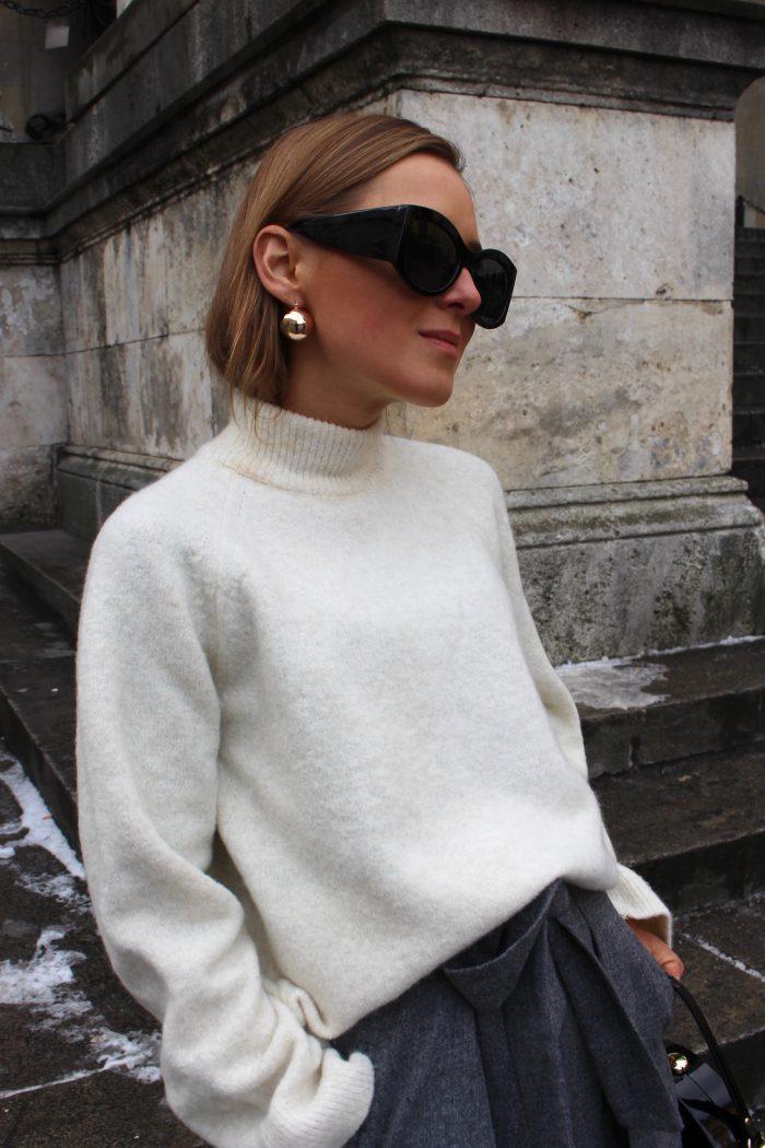 massimo dutti beige sweater winter 2018