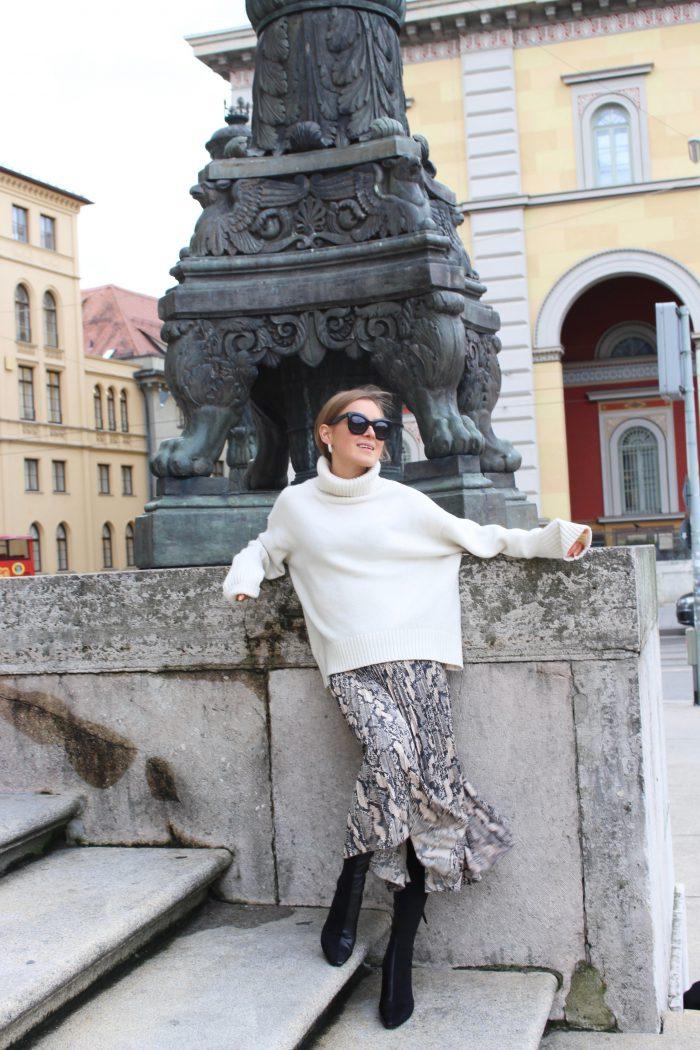 snake skirt H&M Trend 2018