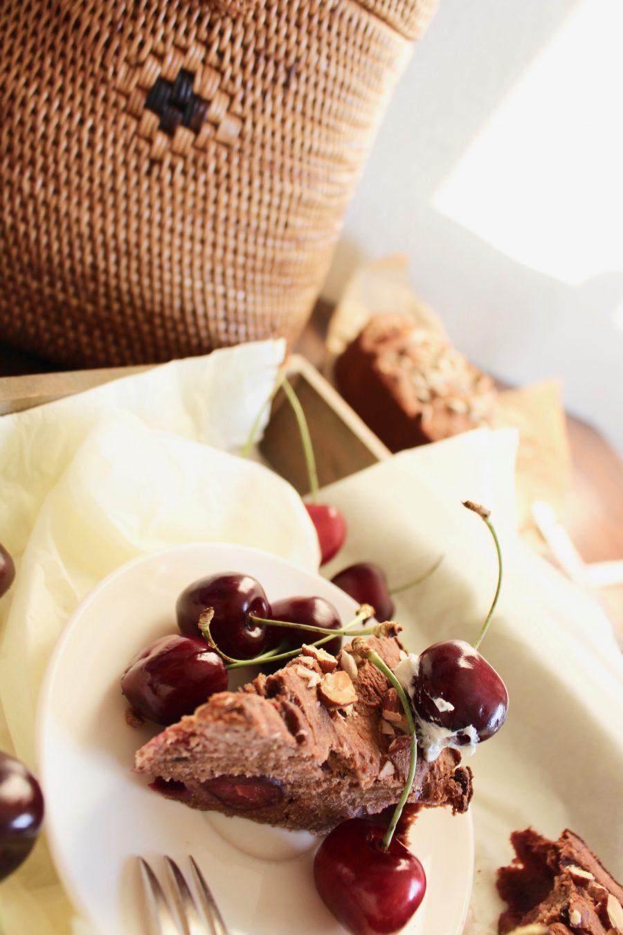 Double Chocolate Cherry Cake