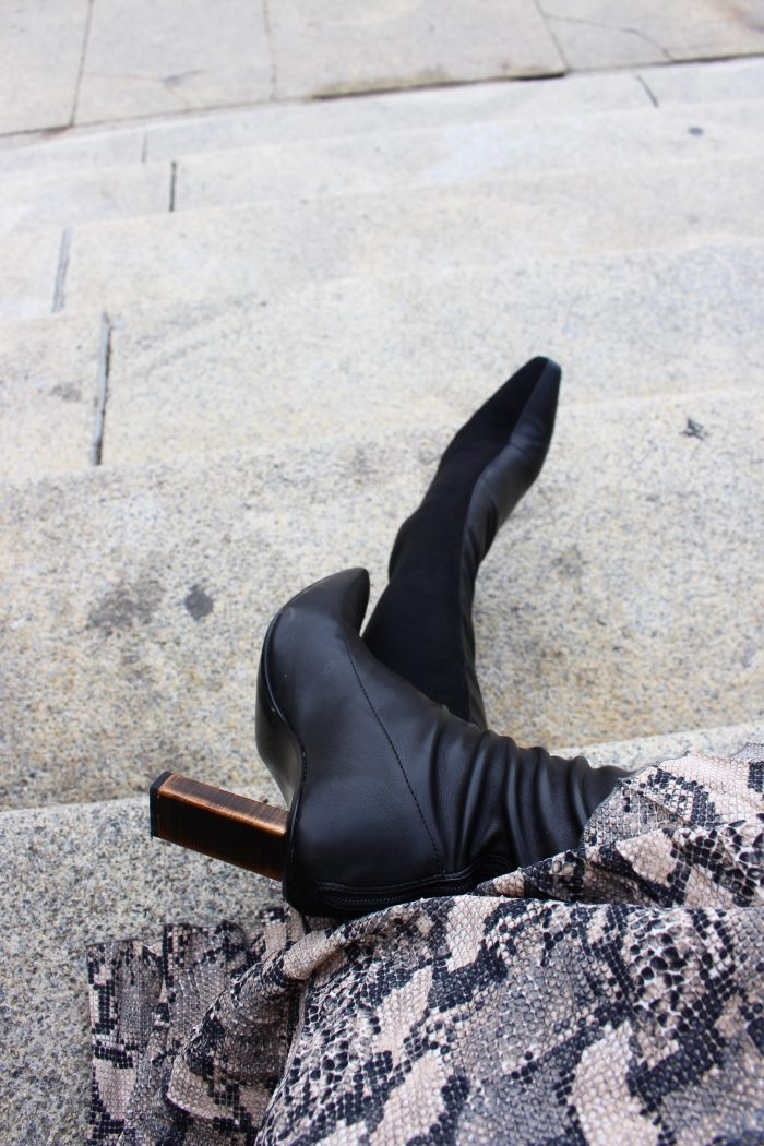 Mango overknee Boots black winter 2018