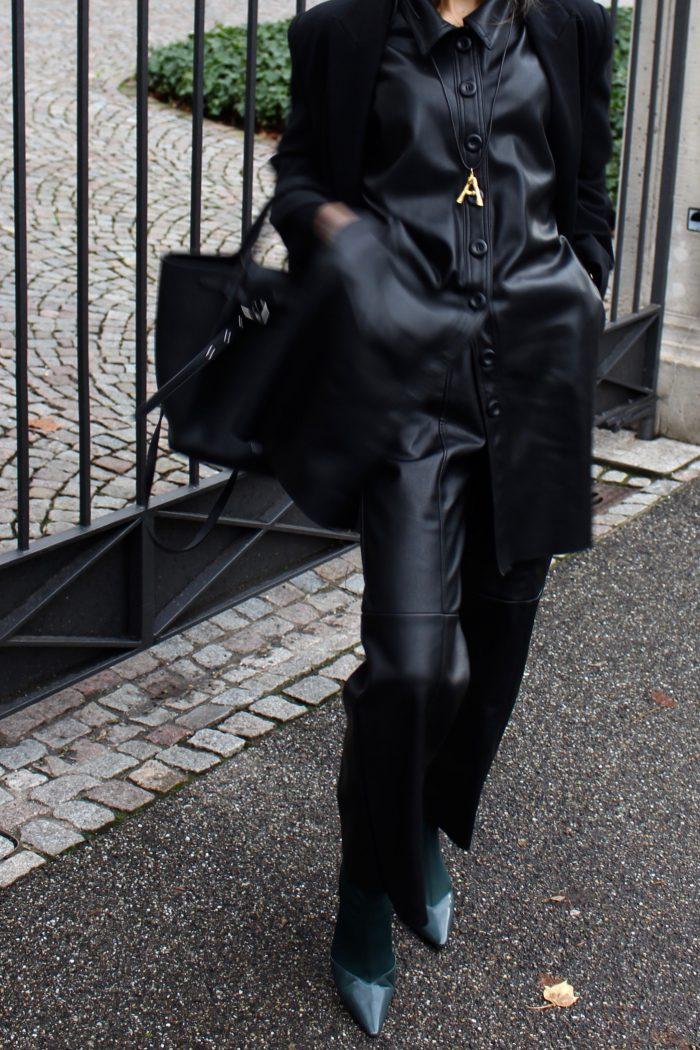 Céline leather dress