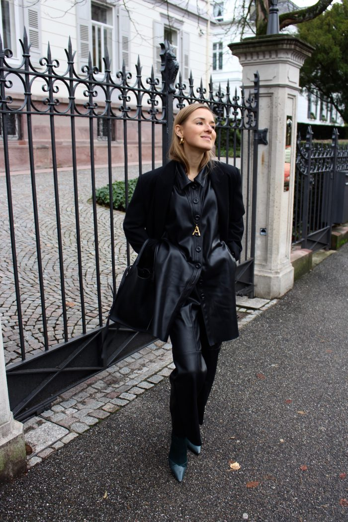 black leather bluse zara trend