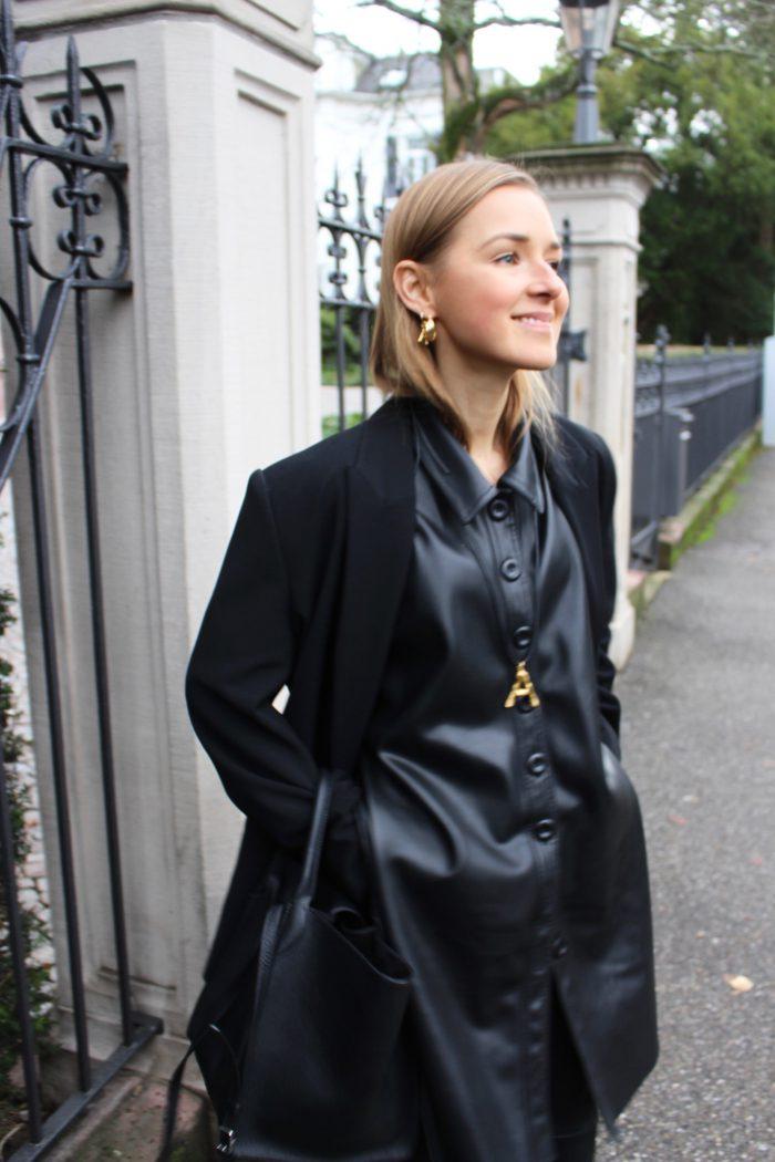 leather zara tunika like céline