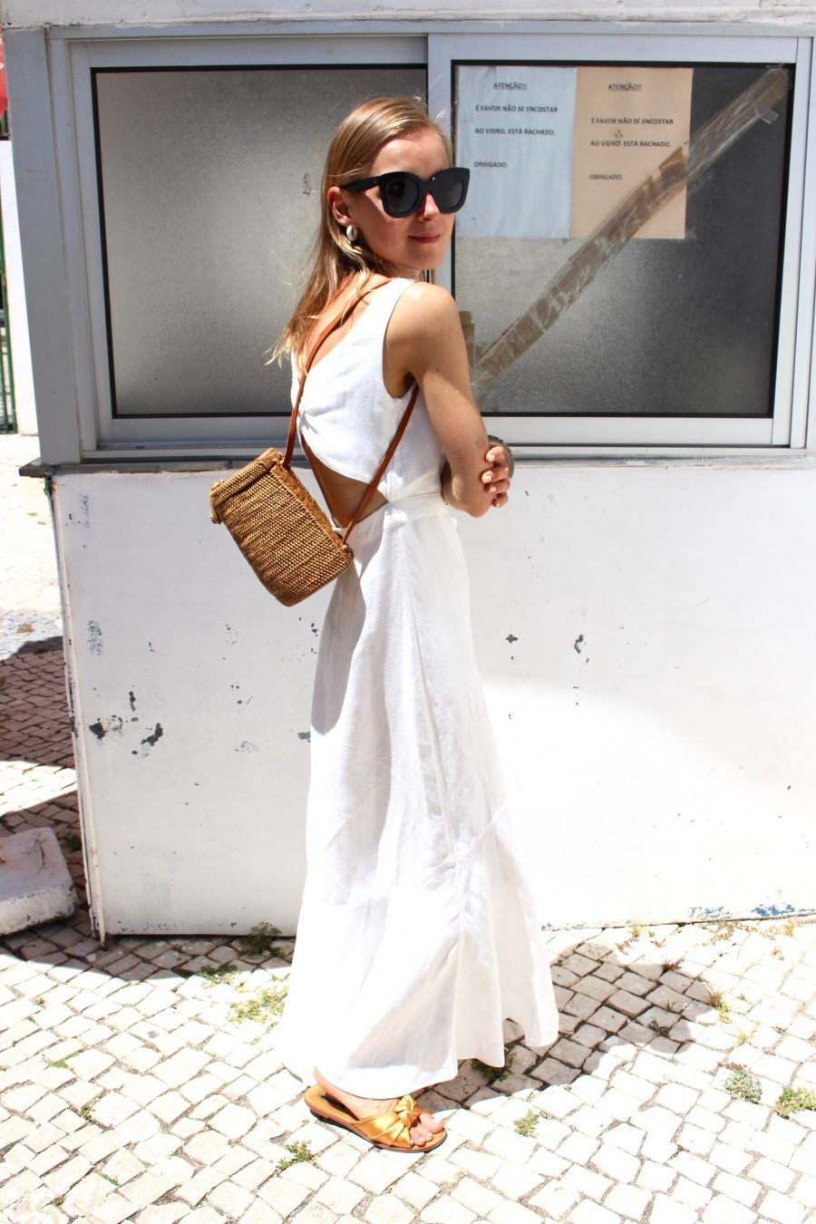 mango white summer dress fashion blogger