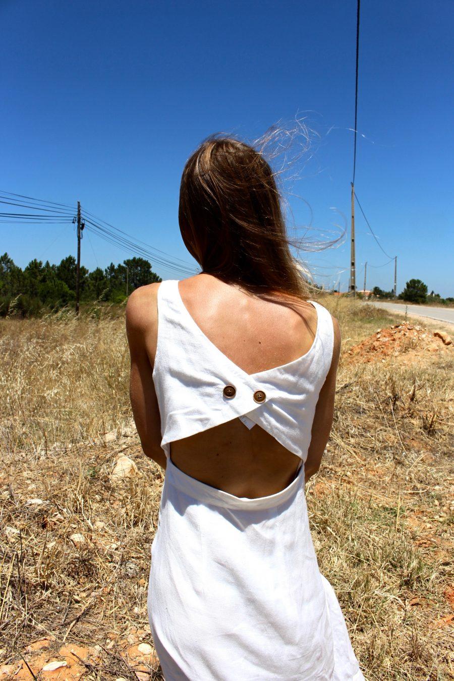 mango white dress linen