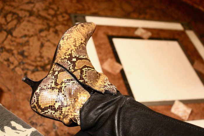 other stories snake ankle boots